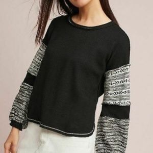 Anthropologie Deletta Wood Chime Pullover